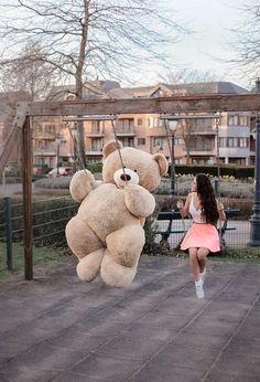 Image about teddy bear in Tєddy beαr♦Pαndα 🐻🐼 by мιгα¢ℓєs ✧ Teddy Bear Images, Teddy Bear Quotes, Teddy Bear Pictures, Cute Teddy Bear Pics, Huge Teddy Bears, Giant Teddy Bear, Big Bear, Costco Bear, Teady Bear