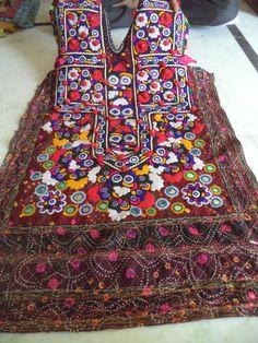 gypsy banjara dress vintage handmade patchwork dress embroidered tribal dres mir