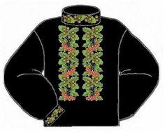 Домотканая чёрная мужская вышиванка ВМД-001Ч