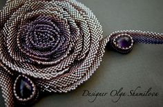 Design of the day – necklace Rose by Olga Shumilova | Beads Magic