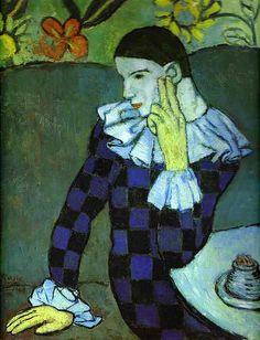 Picasso, Pablo (1881-1973) - 1901 Leaning Harlequin (Metropolitan Museum of Art)