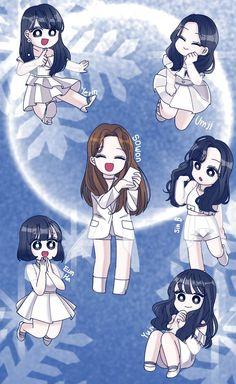 Gfriend And Bts, Sinb Gfriend, Friend Anime, G Friend, Wallpaper Fofos, Twice Fanart, Fandom, Beautiful Anime Girl, Kpop Fanart
