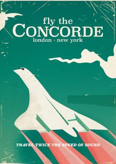 Fly the Concorde vintage travel poster Art Print