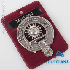 MacLeod of Lewis Clan Crest Badge. Free worldwide shipping available