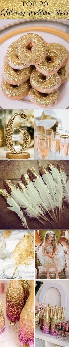 perfect 20 glittering wedding ideas: