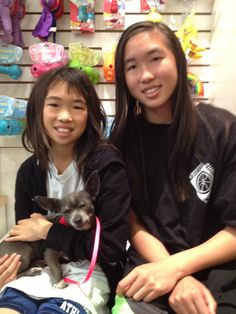 "Tiny Ju-JuBee charmed the socks of her new family.  Here she is with her new ""sisters.""  Maureen cut the shelter paper collar off with a flourish and proclaimed Ju-JuBee ""no longer a stray pound pup!"" pinned with Pinvolve - pinvolve.co"
