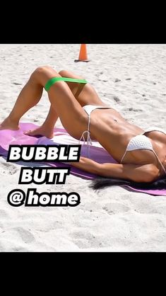Bubble Butt workout at home. Bubble Butt workout at home. Butt Workout At Home, Bubble Butt Workout, Dip Workout, Body Fitness, Health Fitness, Gym Workouts, At Home Workouts, Fitness Studio Training, Workout Bauch
