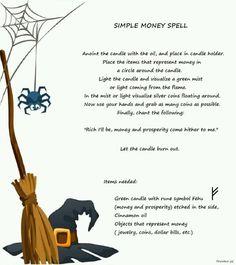Simple money spell