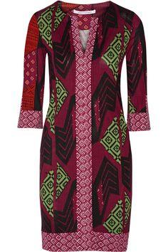 Diane von FurstenbergRose printed silk-jersey dress