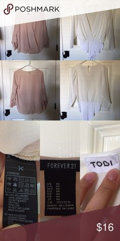 💥Chiffon Blouse Top Bundle💥 Company: Forever21 & TOBI Size: Small MADE IN CHINA Fabric: 100% Polyester -- 💥THIS IS A LIMITED TIME OFFER💥  -- Forever 21 Tops Blouses