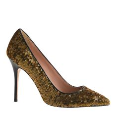 Dress up your plain LBD with these Roxie sequin pumps