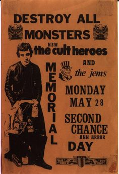 Destroy All Monsters / Cult Heroes at Second Chance