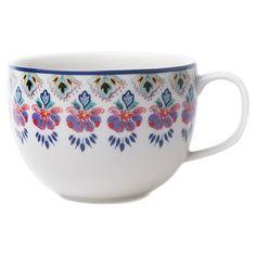 Porcelain mug with a Southwestern-inspired floral border.  Product: Set of 4 mugsConstruction Material: Porcelai...