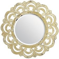 Ivory Ornate Mirror