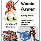"""A HUGE literature unit for the book, """"Woods Runner"""", by Gary Paulsen. The story is about a boy during the Revolutionary War who must rescue his ki. Gary Paulsen, Literature Circles, Story Elements, Comprehension Questions, Fifth Grade, American Revolution, New Adventures, Revolutionaries, Social Studies"""