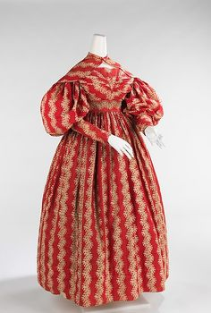 Dress. 1832-1835. American. Cotton. Brooklyn Museum Costume Collection at The Metropolitan Museum of Art.