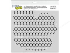 The Crafter's Workshop Templates, and stencils, will help you achieve the look and style you want even if you can't draw a straight line with a ruler. Great for card-making, scrapbooking, and crafts of all kinds that require different applied patterns. Good for doodling, sponging, stippling, spritzing, chalking and so much more. Chickenwire Reversed Stencil has a portion of negative hexagonal chicken wire, with irregular external shape, sitting inside a square. Could also be used as a…