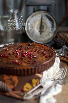 Double Chocolate Pumpkin Pie by FamilySpice.com