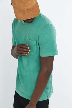 Shore Leave by Urban Outfitters Green Pigment Dye Tee