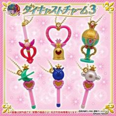 Sailor Moon Die-cast Charm 3 Set of 6