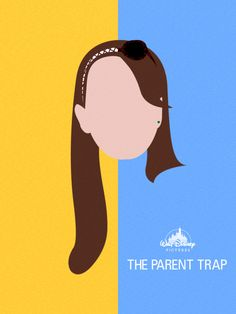 Alternative movie poster for Parent Trap by Chay Lazaro. This poster is very simplistic, easy on the eye and communicates the message well. I think that no further detail was required as it is a strong design. Best Movie Posters, Minimal Movie Posters, Disney Posters, Minimal Poster, Film Posters, Poster Art, Poster Design, Poster Layout, Poster Prints