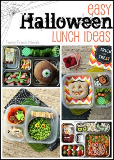 Here are some Fun and easy Halloween Lunch ideas. It is so easy to make fun lunches with all the Halloween food picks and holiday party favors out there.