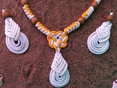 If you are looking for an unique and fun DIY jewelry project to make, this Bright White and Sunny Yellow Paracord Jewelry tutorial was made just for you. This DIY necklace and earrings project teaches you how to make a necklace and pair of DIY earrings using two different colors of Nylon Paracord, wooden beads, and jump rings.