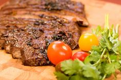 Our favorite flank steak recipe is so easy and kids even love it! Can't get outside to grill it? Cook your flank steak in a grill pan or cast iron. Skirt Steak Recipes, Grilled Steak Recipes, Grilling Recipes, Beef Recipes, Cooking Recipes, Grilled Meat, Recipies, Jerky Recipes, Healthy Recipes