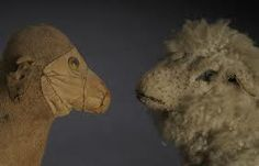 Antique / vintage stuffed sheep