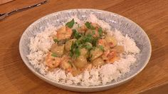 Nice and spicy prawn thai curry