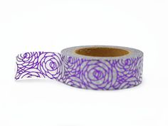 Purple foil washi tape with a pretty rose design.  Length: 10m Width: 15mm  Love Washi Tape? Look at the rest of my selection here http://etsy.me/1vA2sAq  ►► WHAT IS WASHI TAPE? ◄◄  Washi tape is a transparent decorative masking tape. Super versatile, it's easy to tear and repositionable.... you can even write on it! It adheres to pretty much anything including glass, paper and wood and can be used for so many different projects!  For projects and inspiration you can visit my W...