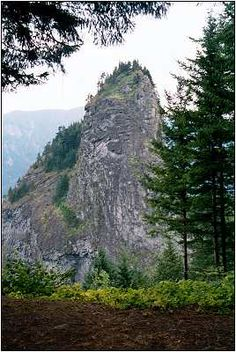 Lewis and Clark named this rock in Oregon 'Castle Rock.' The Indians knew it as a landmark on the Columbia River, last rapids and the beginning of the tidal influence from the Pacific Ocean 150 miles away. (Columbia Gorge).