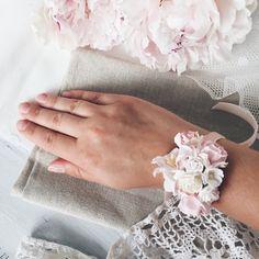 Купить Браслет для подружки невесты - Fleurs dlicates - Браслет ручной работы, браслет на руку
