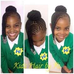 Perfect Hair Braid Styles For Little School Girls - Braids . Hair Style Girl little girl natural hair braid styles Little Girl Braid Styles, Kid Braid Styles, Little Girl Braids, Black Girl Braids, Braids For Kids, Girls Braids, Braids In A Bun, Children Braids, Kid Braids