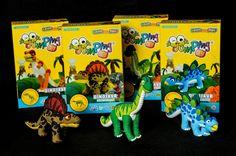 JumpingClay Dinosaur DIYs - T-Rex, Dimetrodon, Brachiosaurus, Stegosaurus