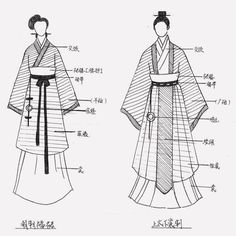 Hanfu of Zhou Dynasty Hanfu became looser, with the introduction of wide sleeves…