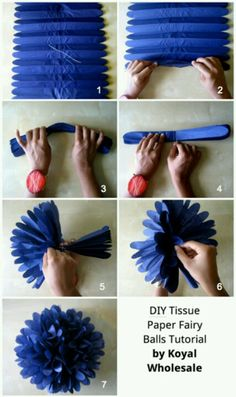 Tissue paper Pom Pom's - DIY... Add a pair of nerd glasses for nerd party