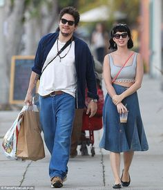 Katy Perry goes on romantic Hollywood outing with boyfriend John Mayer | Mail Online