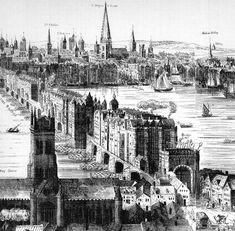 A view of London Bridge circa 1616.