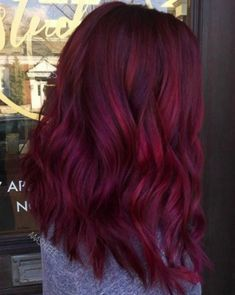 """35 inspirations that let you crack for the coloring """"mulled wine"""" - hair - Hair Colors Fall Hair Colors, Red Hair Color, Cool Hair Color, Purple Hair, Long Burgundy Hair, Fall Red Hair, Magenta Hair Colors, Maroon Hair, Wine Hair"""