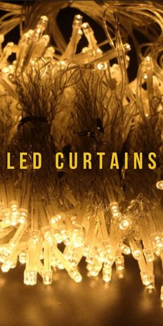 led wedding curtains | LED curtains bedroom | LED Curtains | LED curtains for decoration | #LED curtains | #curtains | #garlands | #cozyatmosphere Garlands, Chandelier, Ceiling Lights, Curtains, Led, Bedroom, Decoration, Wedding, Wreaths