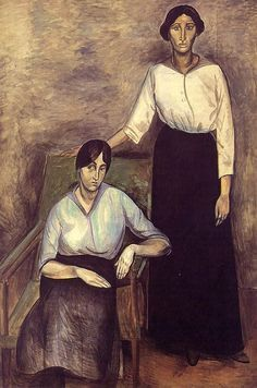 André Derain (1880-1954), The Two Sisters, 1914, Oil on canvas, 195.5 x 130.5 cm, Statens Museum for Kunst.