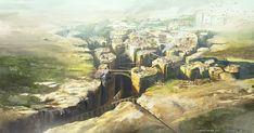 Portfolio of Jesse van Dijk - W! Fantasy City, Fantasy Castle, Fantasy Map, Fantasy Places, Fantasy Kunst, Fantasy World, Fantasy Concept Art, Fantasy Artwork, Environment Concept Art