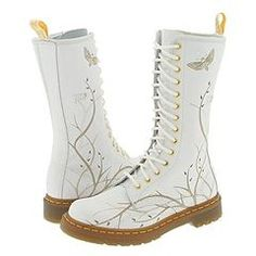 How AWESOME are these! Doc Marten wedding boots. Kudos to the bride ...