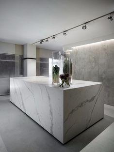 Porcelain Countertops, Porcelain Tile, Kitchen Countertops, Küchen Design, Interior Design, Design Ideas, Interior Inspiration, Kitchen Inspiration, Kitchen Ideas