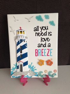All You Need Is Love and A Breeze Ceramic Tile by crazydaisy12