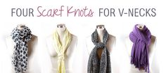 4 Ways to Wear a Scarf with a V-Neck