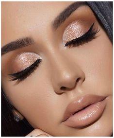 Nude Makeup, Eyeshadow Makeup, Brown Makeup, Neutral Makeup, Makeup Lips, Eyebrow Makeup, Eyeshadow Ideas, Pink Makeup, Nude Lip