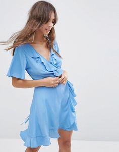 ASOS Mini Woven Tea Dress with Wrap Front