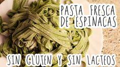 Pasta fresca de espinacas sin gluten y sin lácteos| Cocina SIN